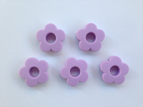 Sweet Lilac Mini Silicone Flower Beads