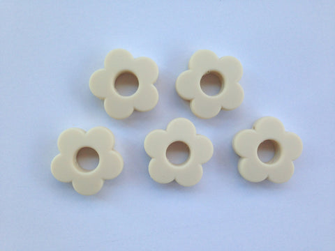 Beige Mini Silicone Flower Beads