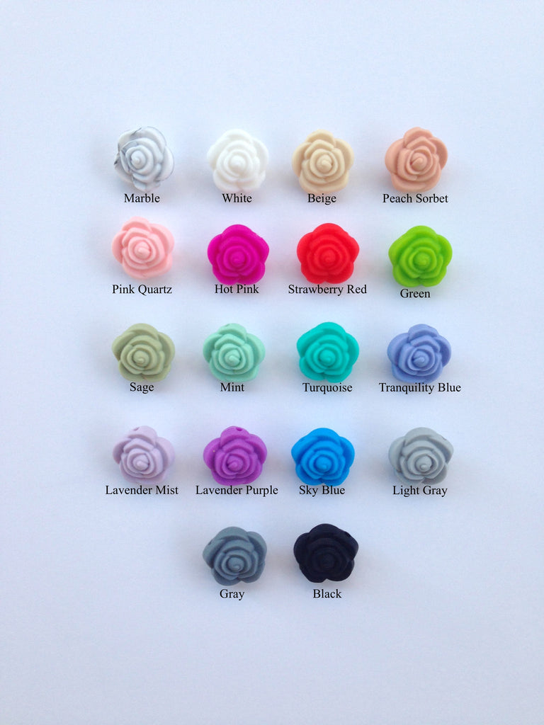 MIX & MATCH Mini Silicone Rose Flower Beads
