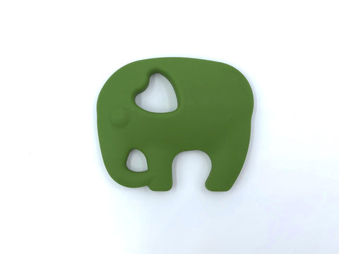 Army Green Elephant Silicone Teether