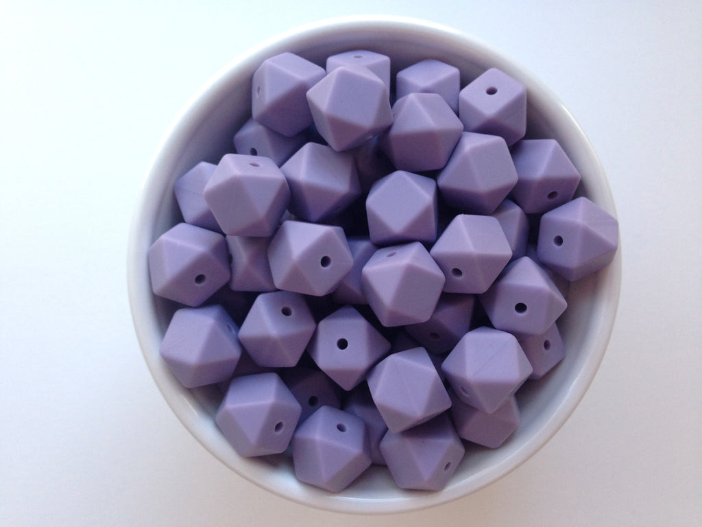 14mm Tropical Lilac Mini Hexagon Silicone Beads