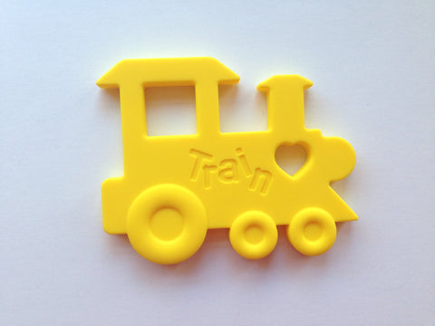Yellow Train Silicone Teether