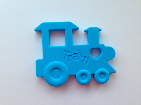 Sky Blue Train Silicone Teether