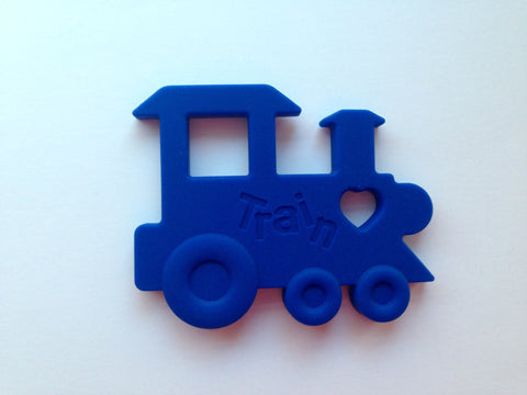 Royal Blue Train Silicone Teether