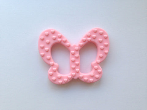 Cotton Candy Pink Butterfly Silicone Teether