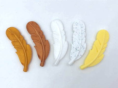 Silicone Feather Pendants