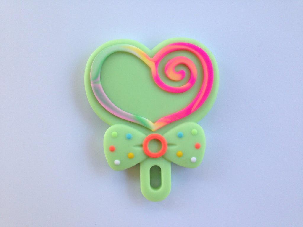 Light Green Lollipop Silicone Teether