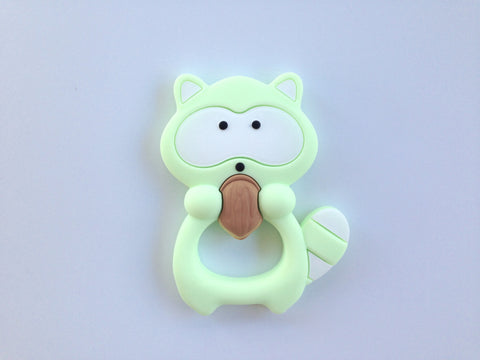 Light Green Raccoon Silicone Teether