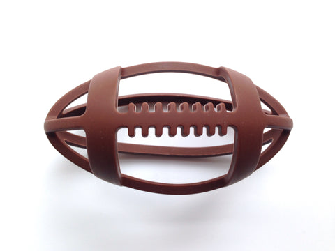 Brown Football Teether