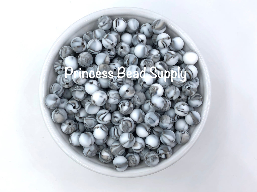 9mm Zebra Silicone Beads