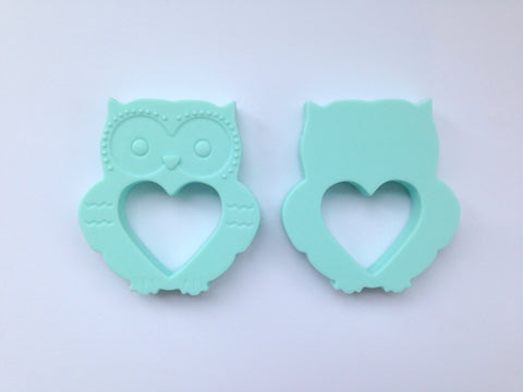 Mint Mini Owl Silicone Teether