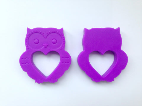 Royal Purple Mini Owl Silicone Teether