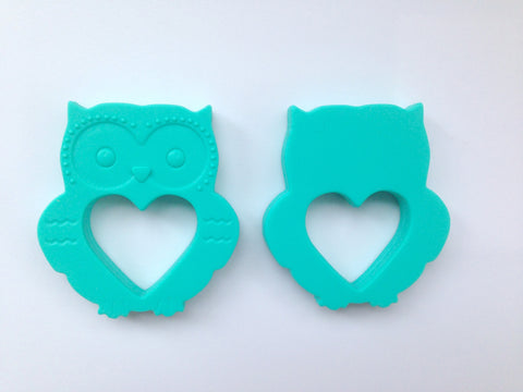 Turquoise Mini Owl Silicone Teether