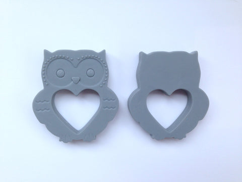 Gray Mini Owl Silicone Teether