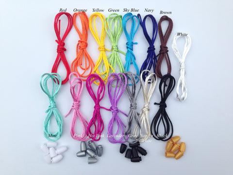 1.5mm Satin Nylon Cord & Break-Away Clasps