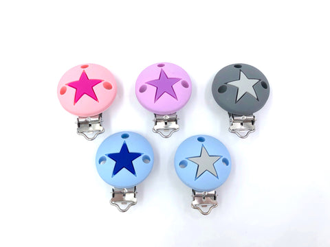Star Pacifier Clips