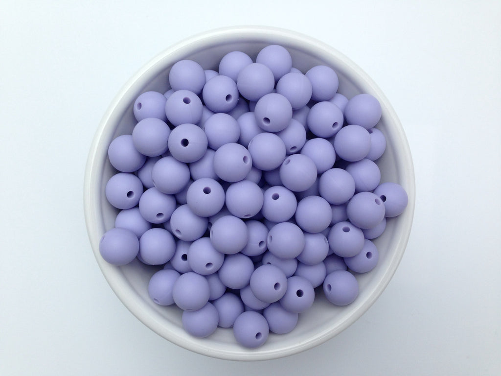 12mm Periwinkle Silicone Beads