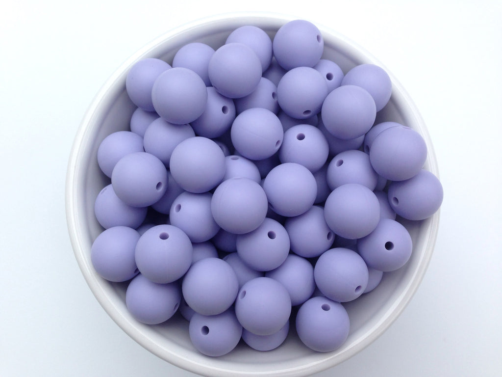 15mm Periwinkle Silicone Beads