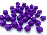 14mm Purple Passion Mini Icosahedron Silicone Beads