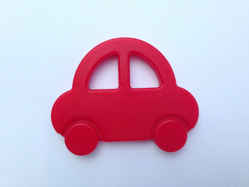Red Car Silicone Teether