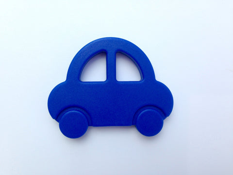 Royal Blue Car Silicone Teether