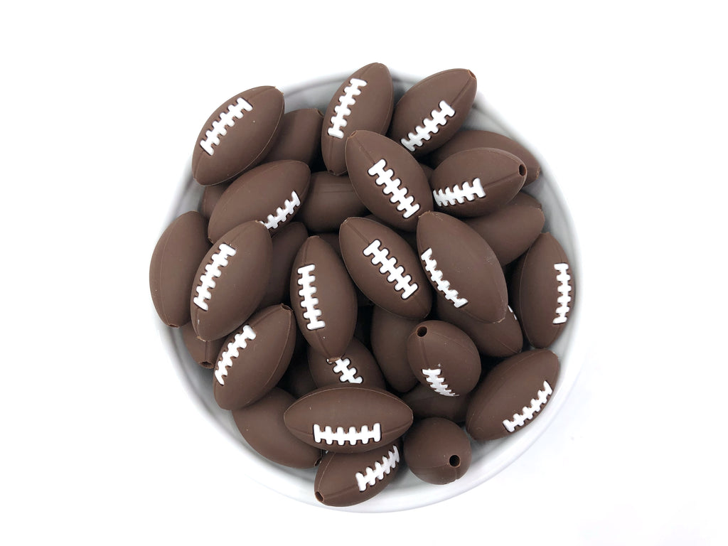 Football Ball Silicone Beads