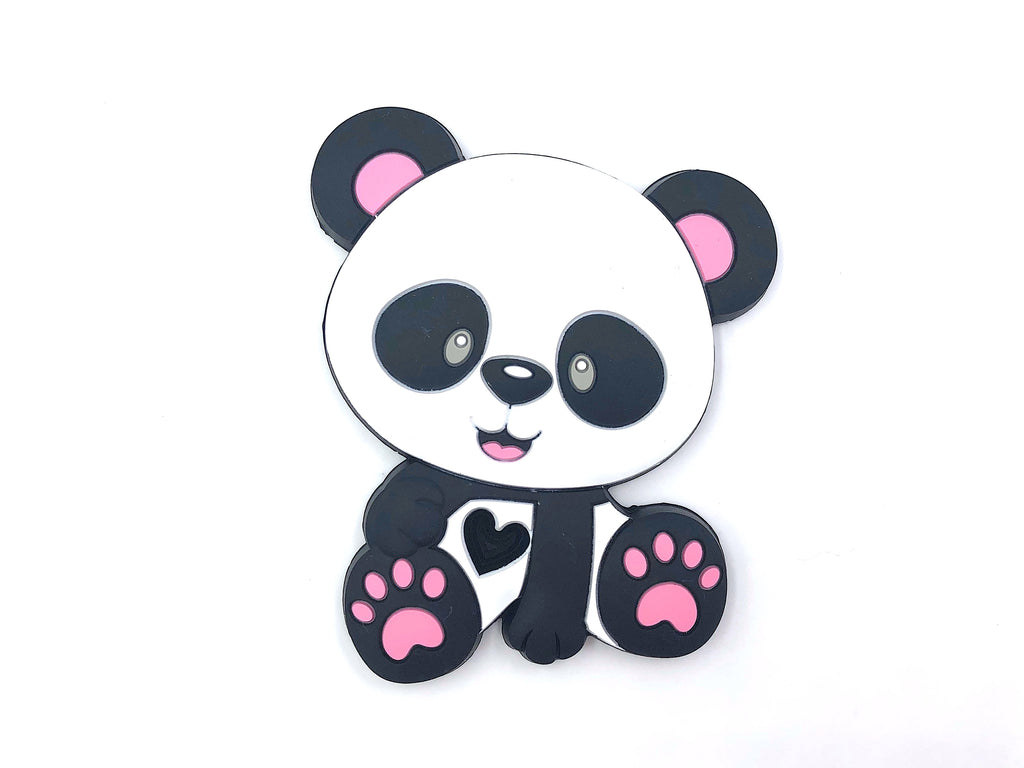 Panda Bear Teether with Pink Paws