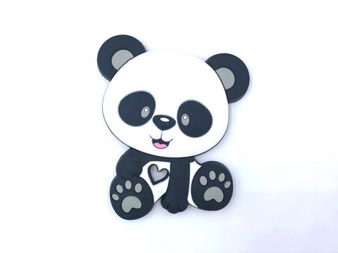 Panda Bear Teether with Gray Paws