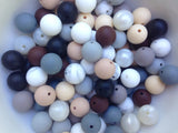 Neutral Mix 50 or 100 BULK Round Silicone Beads