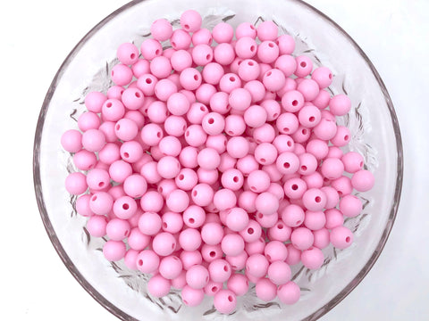 9mm Baby Pink Silicone Beads