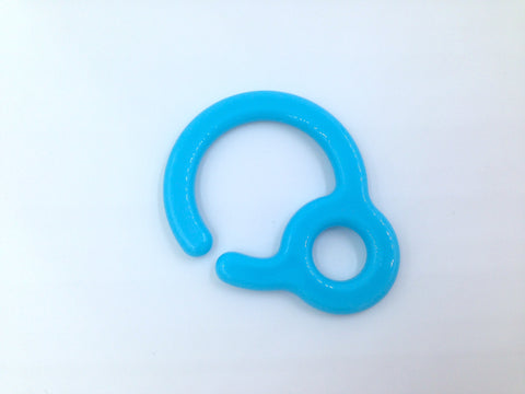 Sky Blue Plastic Ring Link
