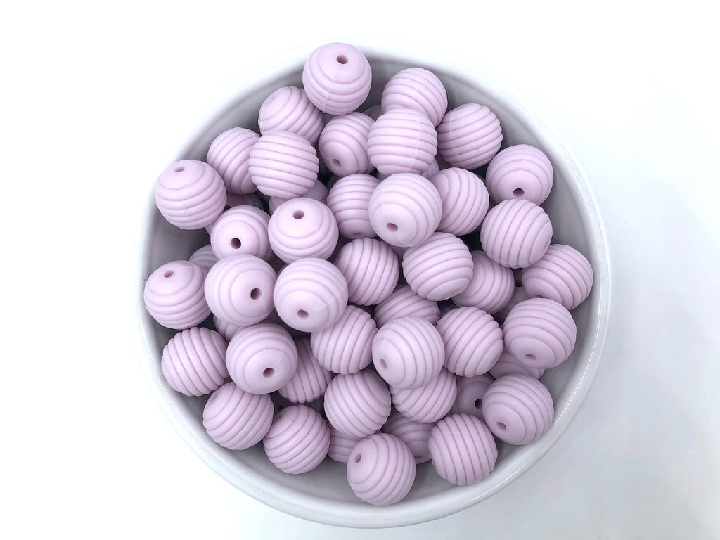 15mm Lilac Silicone Beehive Beads