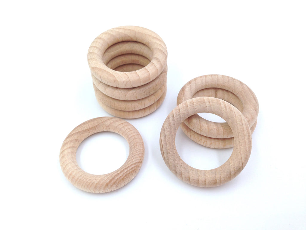 40mm Natural BEECH Wood Rings