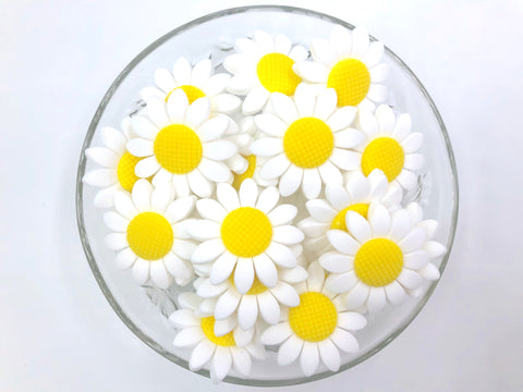 White Daisy Beads