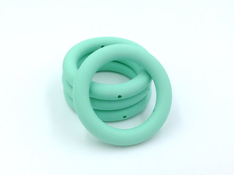 65mm Mint Silicone Teething Ring With Holes