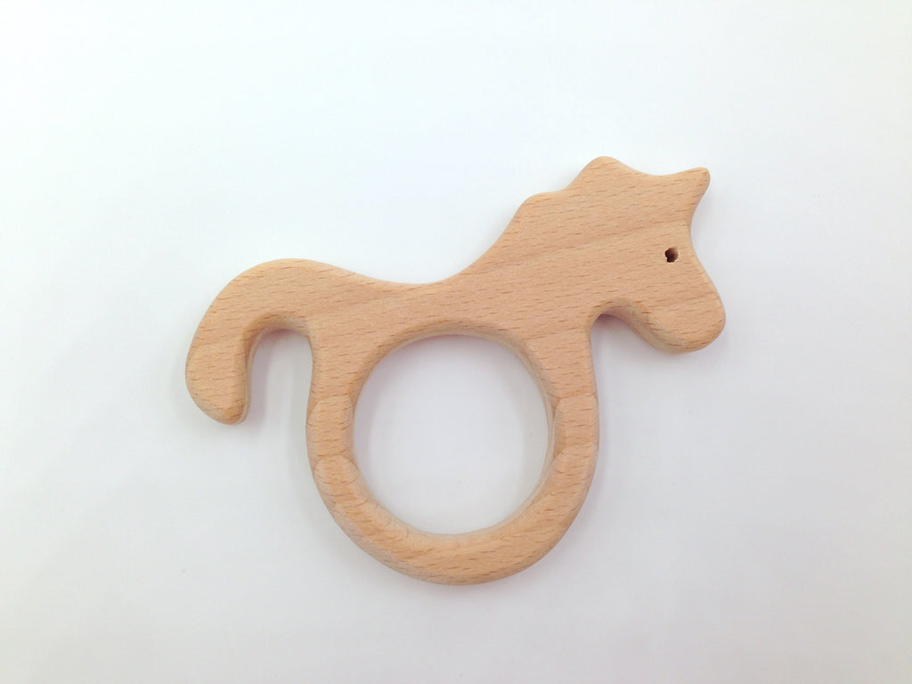 Unicorn Natural Wood Teether