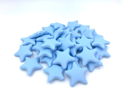 Baby Blue Star Silicone Teething Beads