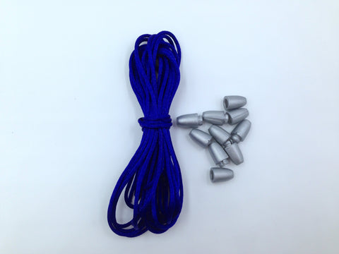 1.5mm Royal Blue Satin Nylon Cord & Break-Away Clasps
