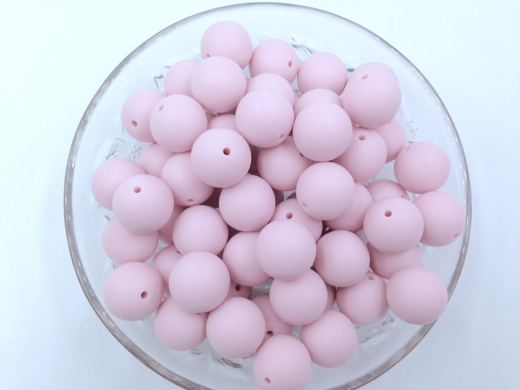 19mm Powder Pink Silicone Beads