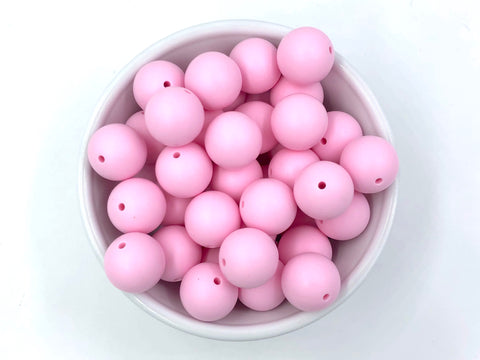 19mm Baby Pink Silicone Beads