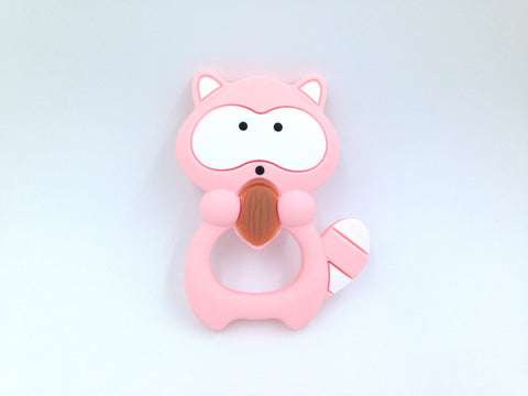 Pink Quartz Raccoon Silicone Teether