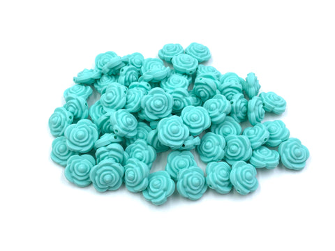 Cool Caribbean Mini Silicone Rose Flower Beads