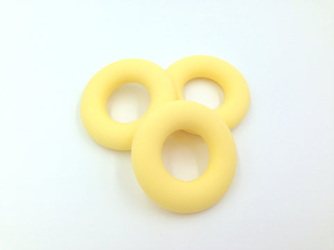 Cream Yellow Silicone Donut