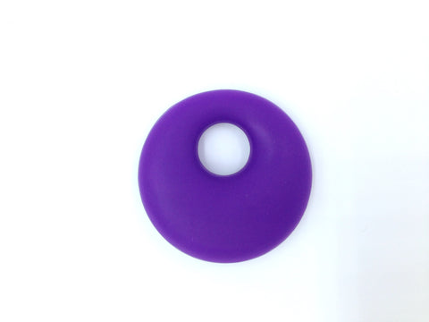 Purple Passion Circle Silicone Pendant