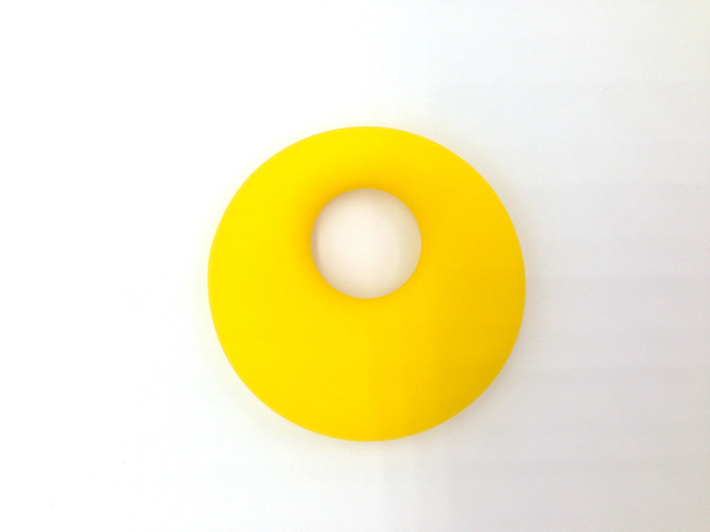 Yellow Circle Silicone Pendant
