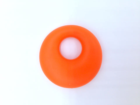 Orange Circle Silicone Pendant