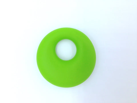 Green Circle Silicone Pendant