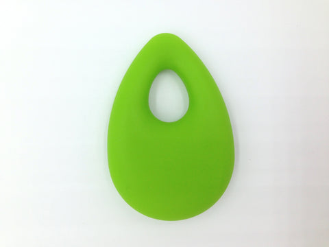 Green Tear Drop Silicone Pendant