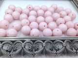 12mm Powder Pink Pearl Silicone Beads