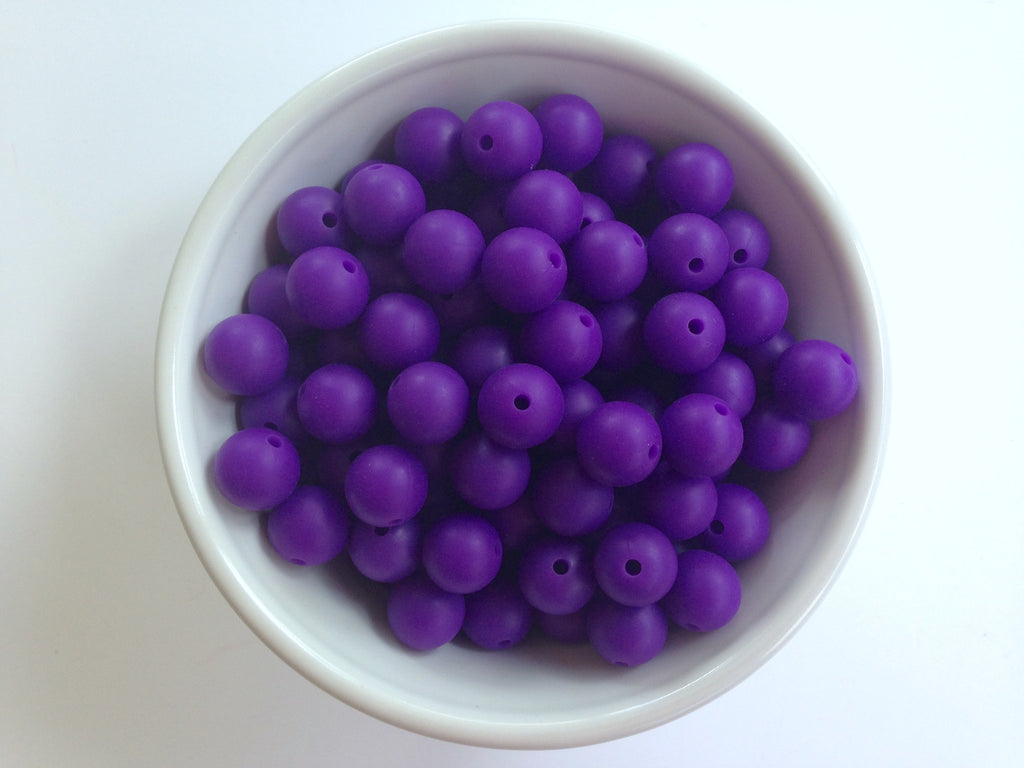 12mm Purple Passion Silicone Beads